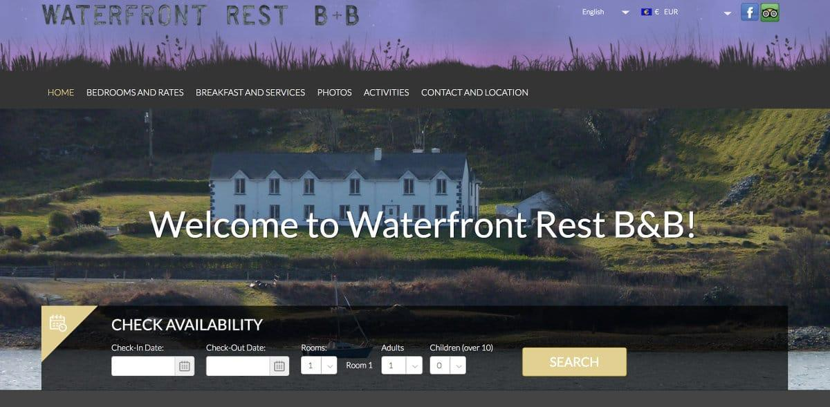 WaterfrontRest.com home page