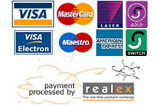 Realex payments - accepted cards