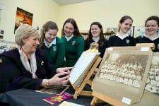 Minister Humphreys with students in Muckross College in Donnybrook